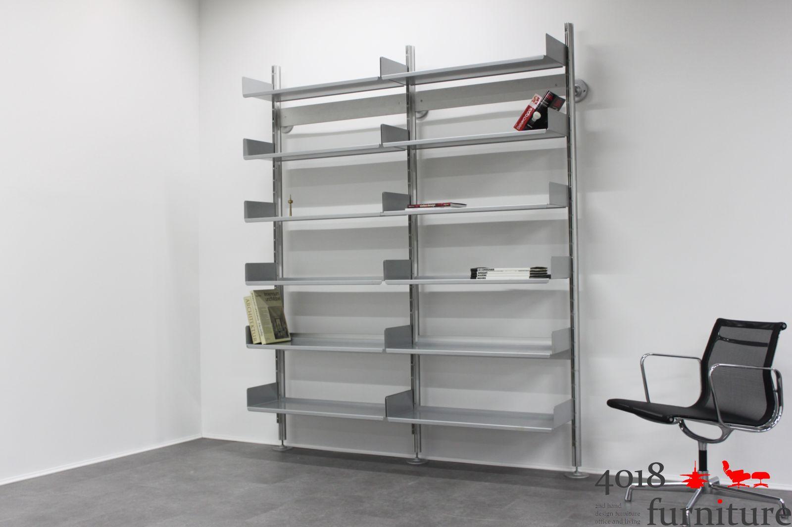 dieter rams vitsoe regal 606 b cherregal aktenregal wandhalter x profil ebay. Black Bedroom Furniture Sets. Home Design Ideas