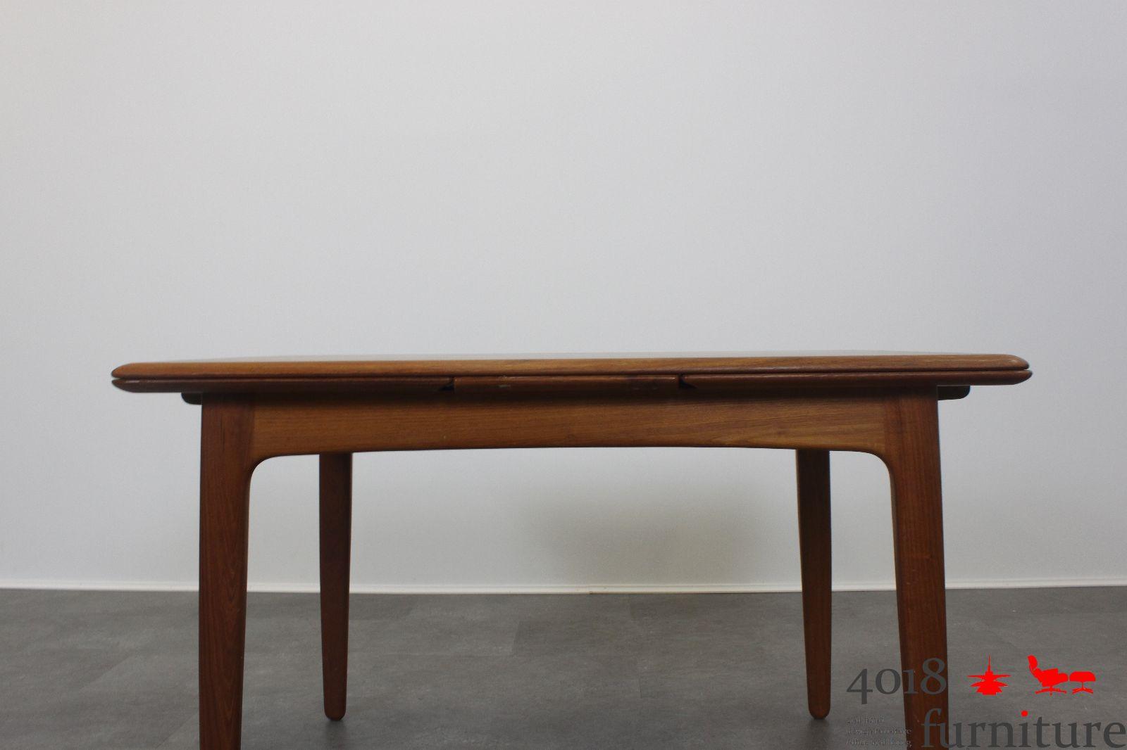 teak esstisch ausziehbar danish mid century. Black Bedroom Furniture Sets. Home Design Ideas