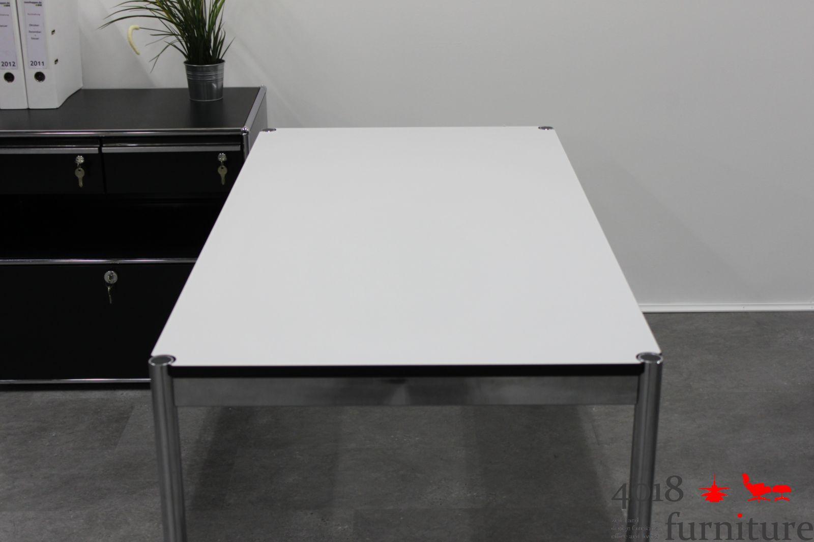 usm haller schreibtisch perlgrau 150 x 75 cm neues system. Black Bedroom Furniture Sets. Home Design Ideas