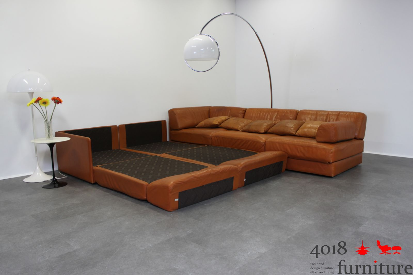 de sede ds 76 cognac 4 5 elemente daybed schlafsofa leder ebay. Black Bedroom Furniture Sets. Home Design Ideas